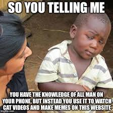 Make A Meme Website - third world skeptical kid latest memes imgflip
