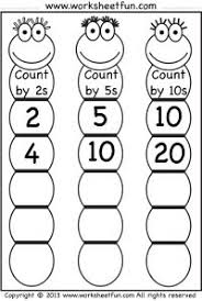 skip counting worksheet with freddy frog 1st grade math