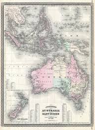 New Zealand And Australia Map File 1870 Johnson Map Of Australia The East Indies And Southeast