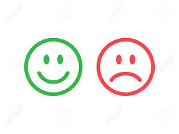 happy green color set of smile emoticons line icons emoticons happy and unhappy