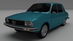 old renault dacia 1300 renault 12 3d model cgtrader