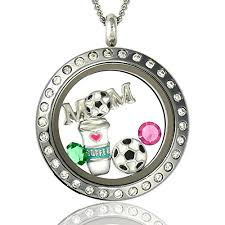 floating pendant necklace images Soccer mom floating charms locket magnetic pendant necklace jpg