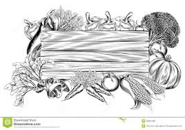 fresh garden vegetable wooden sign stock vector image 36061328