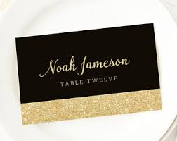 printable name place cards black place cards etsy