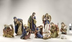 100 home interior jesus figurines kneeling santa with baby