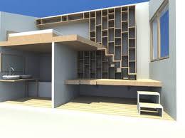 biblioth ue de bureau création d 039 un meuble bureau bibliothèque escalier veran emilie