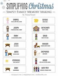 simple christmas memory making christmas story printable