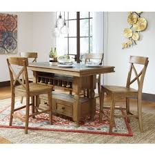 counter height dining room sets trishley counter height dining room set casual dining sets