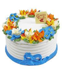 flower cake vanilla half flower cake tiny treats cafe