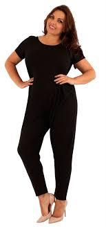 plus size black jumpsuit plus size cap sleeve black jumpsuit dress 14 20 ebay