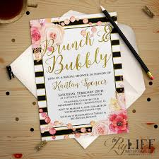country themed baby shower invitations floral and gold striped bridal shower invitation printable diy