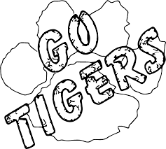 go tigers text coloring page wecoloringpage