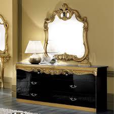 aubrey hollywood regency silver leaf mirror chest dresser gold
