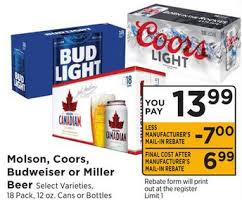 coors light 18 pack free coors light 18pk 12oz bottles cans riteaid or shoprite