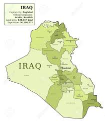 Iraq Map World by Iraq Map With Provinces Governorates In Various Colours And