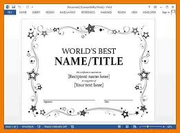 certificate in word editable scholarship certificate template
