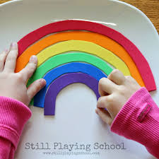 rainbow name puzzles for kids still playing