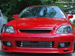 modified cars wallpapers honda civic 97 98 red modified 2 door coupe wallpaper