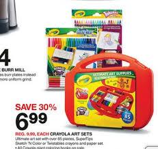 new crayola coupons art kits as low as 99 at target my