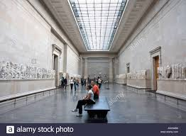 room housing the elgin marbles at the british museum stock photo room housing the elgin marbles at the british museum