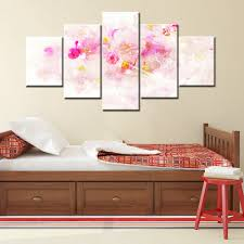 aliexpress com buy pink flowers abstract canvas painting