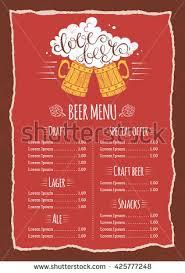 bar menu template cocktail bar u2013 free psd template bar menu