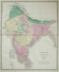 United States Map 1850 by Johnston Map Of India 1850