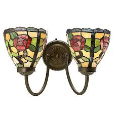 Stained Glass Wall Sconce Style 9 5 Stained Glass Wall Sconce W Remote