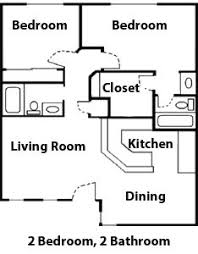 Flats Floor Plans 2 Bedroom Bungalow Floor Plan Plan And Two Generously Sized