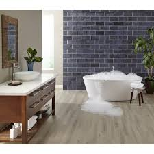 duralux performance valley mist luxury vinyl plank with foam back