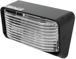 rv outside led lights compare bargman rv porch utility vs led step area light etrailer com