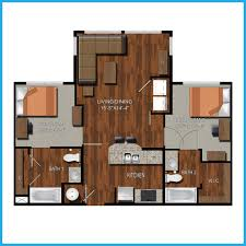 2 Bedroom Floor Plans by College Station Two Bedroom Apartments Northpoint Crossing