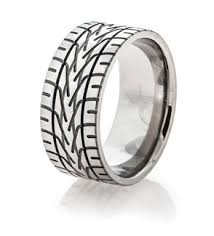highway wedding band tire tread wedding rings dirt bike goodyear motorcycle