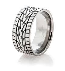 tire tread wedding rings dirt bike goodyear motorcycle - Tire Wedding Ring