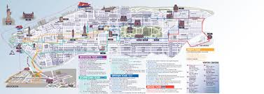 New York Map Of Attractions by New York Pass Attractions Map New York Map
