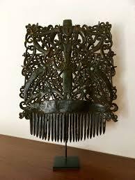 decorative hair combs decorative hair comb made of buffalo horn with dayak ornamentation