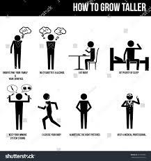 cartoon no alcohol how grow taller info graphic vector stock vector 377757592