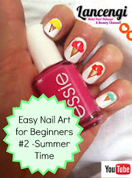 easy nail art tutorials for beginners with short nails summer