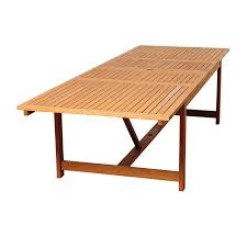 eucalyptus wood dining table rosecliff heights bridgepointe eucalyptus wood dining table