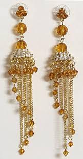 designer earrings studded gold plated designer earrings