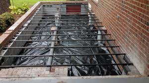 pouring concrete porch floor