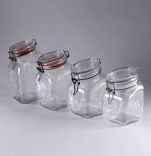 Italian Canisters Kitchen by Vintage Italian Made Glass Canisters By Granny U0027s Products Inc Ebth