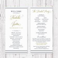 sided wedding programs navy and gold nautical wedding program order of service