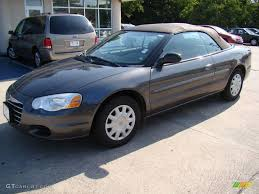 2005 graphite metallic chrysler sebring convertible 14160358