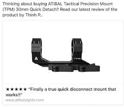 Atibal Checkout Our Latest Review On The Tpm Qd Mount Facebook