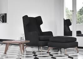 Modern High Back Wing Chair Vibieffe Class High Back Armchair Contemporary Furniture