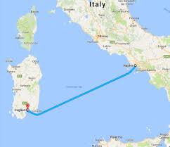 Sardinia Map Sardinia U2014 Chow Napoli
