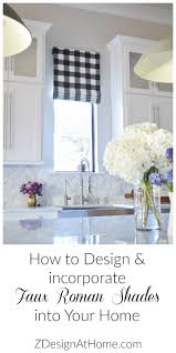 How To Design Your House How To Design A Faux Roman Shade Zdesign At Home