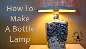 how to make a bottle lamp diy youtube