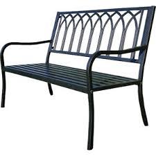 Steel Outdoor Bench Black Outdoor Benches You U0027ll Love Wayfair